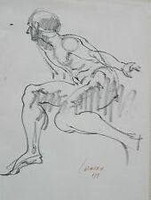 Harry Carmean life drawing of seated male model 1977