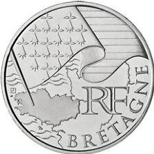 """10 euros régions """"drapeau"""" (argent) Bretagne 2010"""