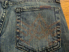 SEVEN 7 FOR ALL MANKIND A POCKET STUD SPARKLE CHAZ JU130 Women's Jeans NWT SZ 24