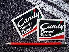 TYRRELL CANDY TEAM CLASSIC F1 STICKERS VINTAGE F1  8 1/2cm X 6cm KEN TYRRELL