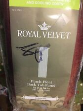Royal Velvet Supreme THERMAL Pinch-Pleat/Back-Tab Patio Panel 75x84 Brown Henna