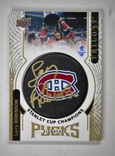 2017-18 Upper Deck Trilogy Stanley Cup Signature Pucks Auto Larry Robinson  /10