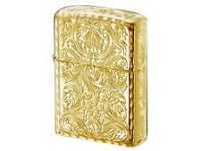 Zippo Armor Case Arabesque Gold Plating Tank 5-Sides Etching Japan Limited F/S