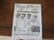 Vintage Fireworks Firecracker Catalog Copy Walds Usa Cherry Bombs M-80s Mo /Tx