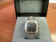 Authentic David Yurman Mens 35mm Thoroughbred Black Face Watch $3,800