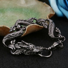 Men's Bracelets Punk Fashion Chinese Dragon Bracelet Stainless Steel Jewelry