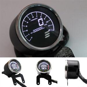 Motorcycle LCD Digital Odometer Tachometer Gauge Fuel Level Gauge  Speedometer
