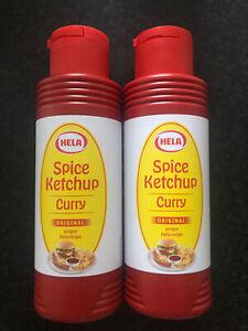 Hela Curry Ketchup Original Spice Sauce 2 X 300ML UK Post