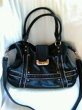 Rivet brand handbag/purse black Medium
