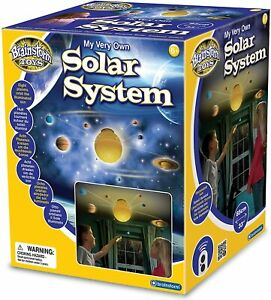 Solar System Ceiling Remote Control Light Mobile Space Kids Planets Rotate Sun