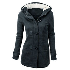 Winter Warm Womens Casual Slim Hooded Parka Long Jacket Trench Coat Outwear Tops