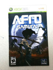 Xbox 360 Afro Samurai Instruction Booklet Insert Only Microsoft Surge