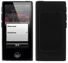 iPod Nano 7 7G - TPU Flex Bescherm-Cover Case Hoes Skin Hoesje met Clip - Zwart