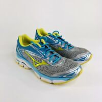 Mizuno Wave Inspire 19 Womens Size 11.5 Blue Silver Green Grey Running Shoes