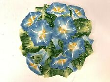 Fitz and Floyd Spring Fling Plate Morning Glory Plate Floral Hand Painted