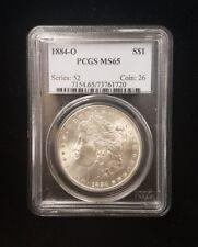 1884-O $1 Morgan Silver Dollar Pcgs Ms65 Series: 52 Coin: 26