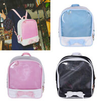 Jelly Transparent Lolita Bowknot Shoulder Bag Student Backpack Schoolbag