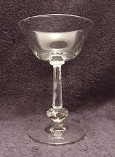 6 Vintage Heisey Crystal Kimberly Pattern Champagne/Tall Sherbet Glasses 1940s