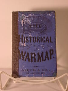 1863 Asher Historical War Map - Rare Mid-War Pocket Map
