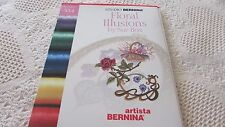Studio Bernina Artista Sue Box FLORAL ILLUSIONS Embroidery Card 534 EXCELLENT