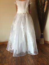 L'enfant  Dress #L800 Girls White Wedding Size 12
