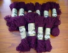 10+ Skein Vintage 1950s Sears Wine 100%  Wool Bouclé Yarn 10oz Golden Crown