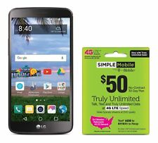 Simple Mobile LG Stylo 3 4G LTE Prepaid Smartphone with Free $50 Unlimited Bu...