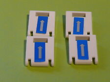 Lego 4 portes blanches de coffres set 7741 / 4 white door from containers