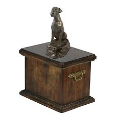 Boxer - wooden urn with dog statue, Art Dog type 1
