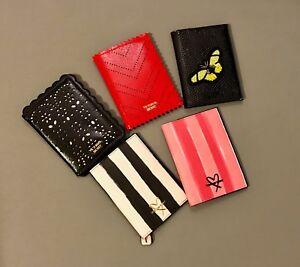 Victoria's Secret Passport Cover Holder Red Black Lazer Pink Signature Stripe