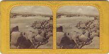 Première cataracte du Nile Égypte Stereo Diorama Tissue Vintage ca 1860