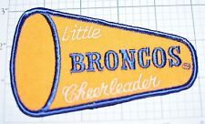 Denver Broncos Little Cheerleader Vintage Embroidered Patch Kids Baby Clothes
