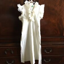 Vintage Baby Snugs 60s Little Girls Ruffle Cotton Dress Gown