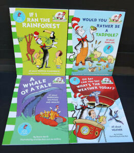 """Set Of 4 Dr Seuss """"Learn To Read Read To Learn"""" Green Series Books..Like New"""