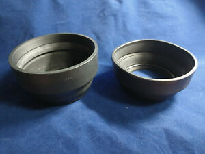 TWO Mamiya 77mm Rubber Camera Hoods For RB67 Lenses 127mm To 250mm