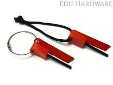 Ferro Rod 3 Pack +FREE CABLE RING! EDC Survival Ferrocerium Firesteel USA SELLER