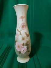 "Vintage Hummelwerk Victorian Garden ""Dogwood"" Vase in Pink & Brown 7 3/4"" tall"
