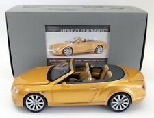 Paragon 1/18 Scale PA-98232R Bentley Continental GT Convertible 16 Sunburst Gold