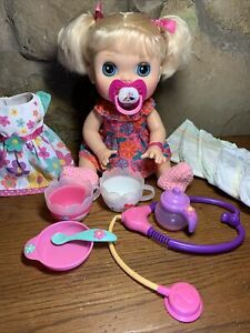 Baby Alive Real Surprises Doll Blonde Blue Eyes.   English/Spanish W/Accessories