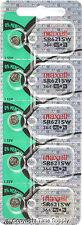 Maxell 364 SR621SW SR621 28034 LR621 AG1 Battery 0% MERCURY  (5 PC )