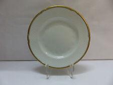 Bing & Gröndahl Brotteller Strohmuster weiß mit Goldrand 15,5 cm