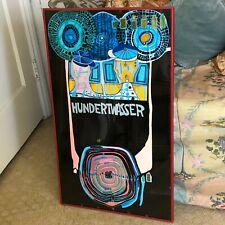 Hundertwasser Poster Embossed World Tournee Gruener Janura Ag Glarue 1975