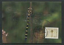 BUND MK 1991 LIBELLEN DRAGONFLY MAXIMUMKARTE CARTE MAXIMUM CARD MC CM m73