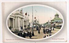 exposition  de bruxelles , 1910 , avenue principale