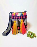 Boho Crocheted Wayuu Artsy Mochila Bag