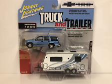 1997 Chevy Tahoe with Camper Trailer 1:64 Scale Johnny Lightning JLBT007