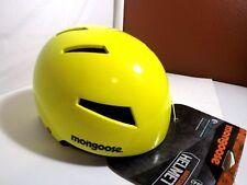 mongoose hard shell  Bmx helmets street or park bmx. neon  color age 8 plus