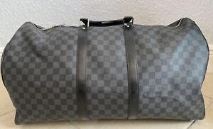 Louis Vuitton Keepall Bandouliere Bag Damier Graphite 45
