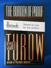SCOTT TUROW:  BURDEN OF PROOF:  SIGNED FIRST EDITION FIRST PRINT:  EXCELLENT