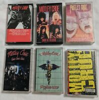 Lot Of  6  Vintage Motley Crue Cassette Audio Tapes - Heavy Metal 1980s Rock